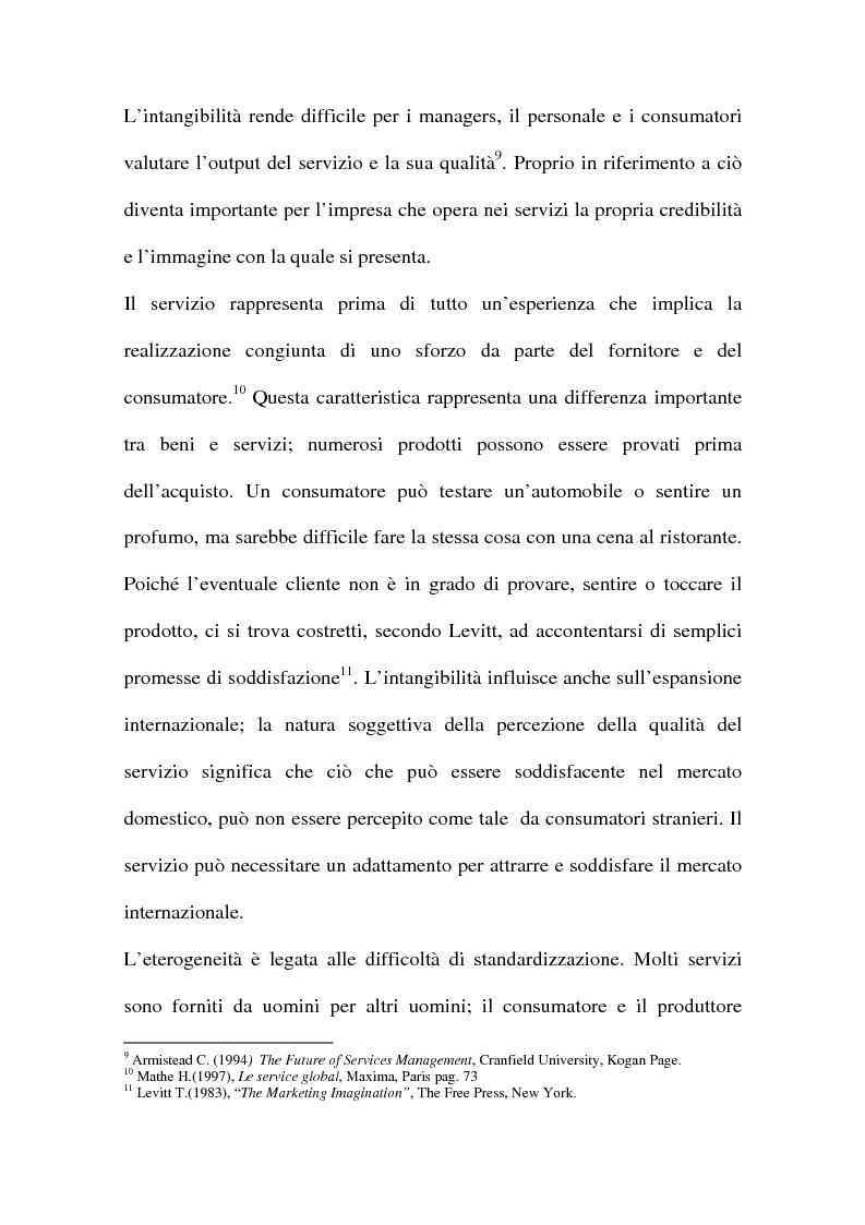 Anteprima della tesi: L'internazionalizzazione delle imprese di servizi, Pagina 11