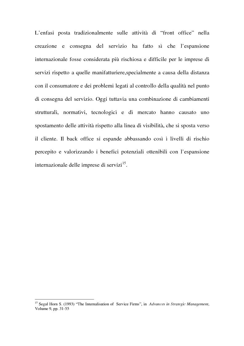 Anteprima della tesi: L'internazionalizzazione delle imprese di servizi, Pagina 15