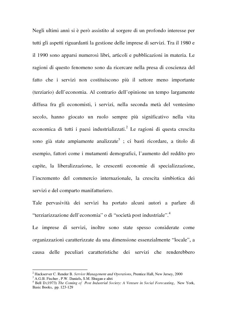 Anteprima della tesi: L'internazionalizzazione delle imprese di servizi, Pagina 7