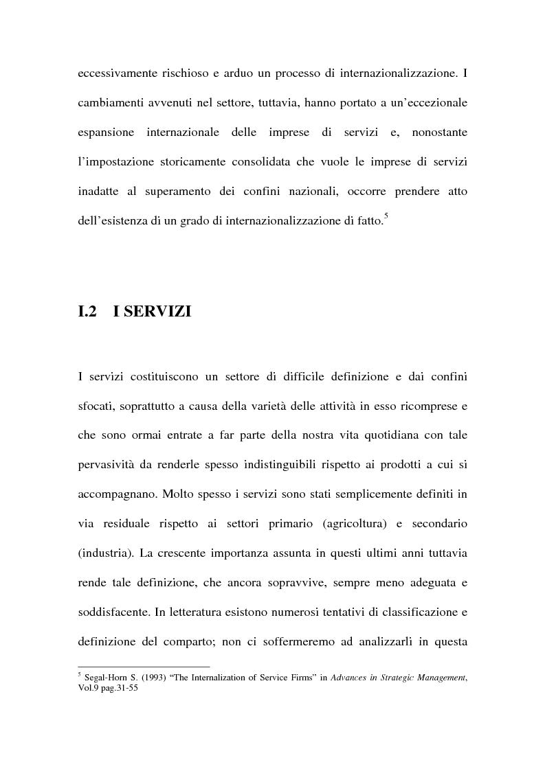 Anteprima della tesi: L'internazionalizzazione delle imprese di servizi, Pagina 8