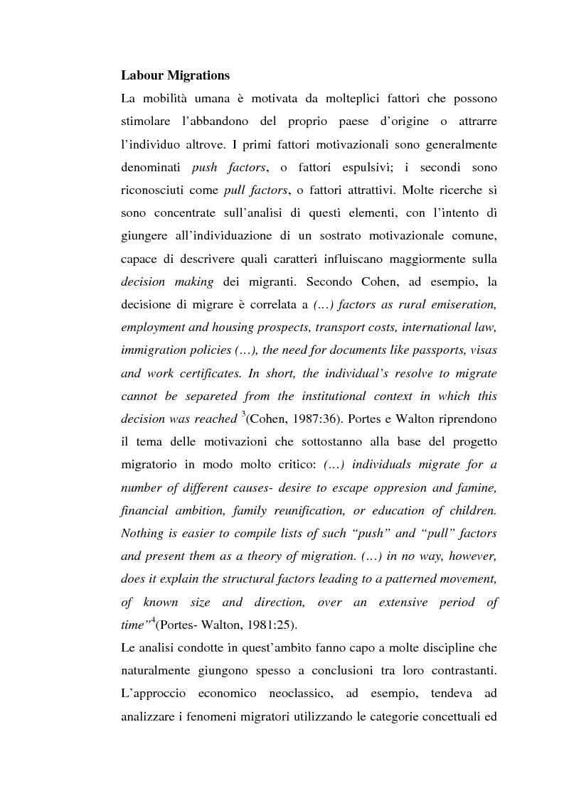 Anteprima della tesi: L'inserimento degli immigrati nel sistema economico - produttivo genovese, Pagina 13