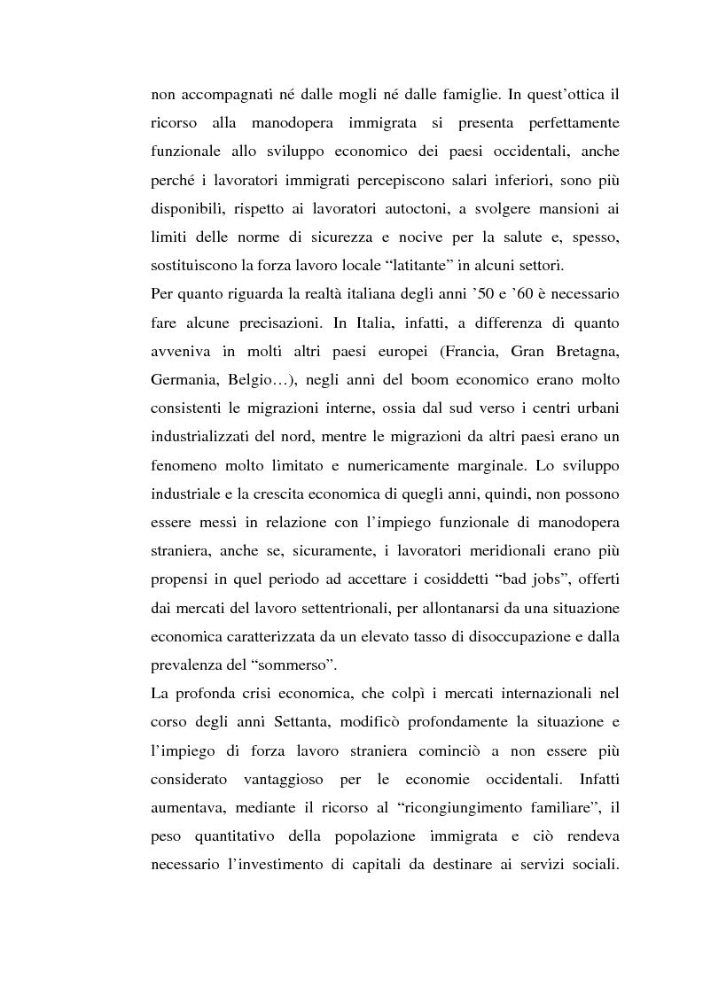 Anteprima della tesi: L'inserimento degli immigrati nel sistema economico - produttivo genovese, Pagina 15