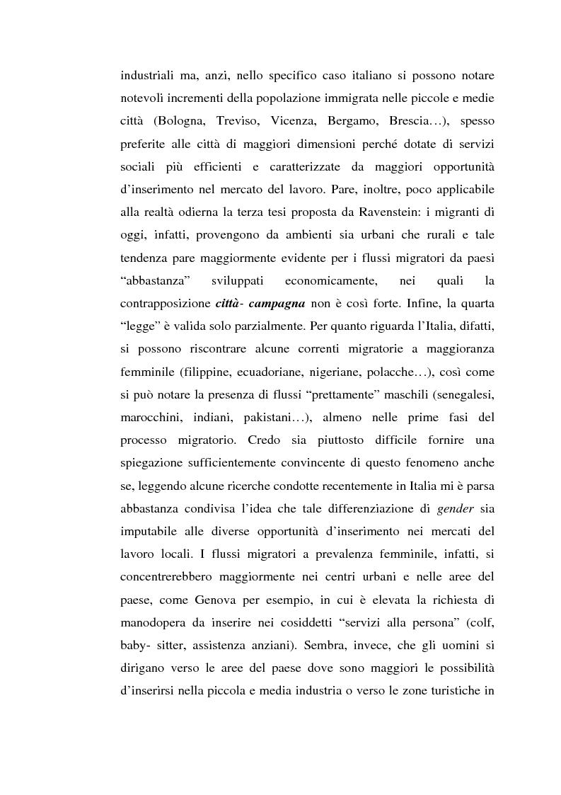 Anteprima della tesi: L'inserimento degli immigrati nel sistema economico - produttivo genovese, Pagina 5