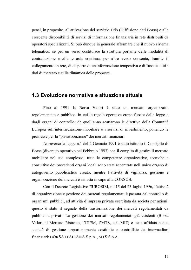 Anteprima della tesi: Aste a chiamata, controllo dei prezzi ed esperimenti con agenti umani ed artificiali in un modello di simulazione di borsa, Pagina 12