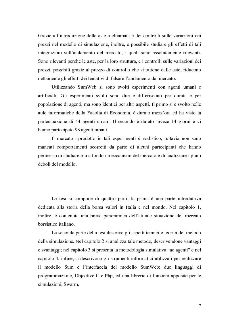 Anteprima della tesi: Aste a chiamata, controllo dei prezzi ed esperimenti con agenti umani ed artificiali in un modello di simulazione di borsa, Pagina 2