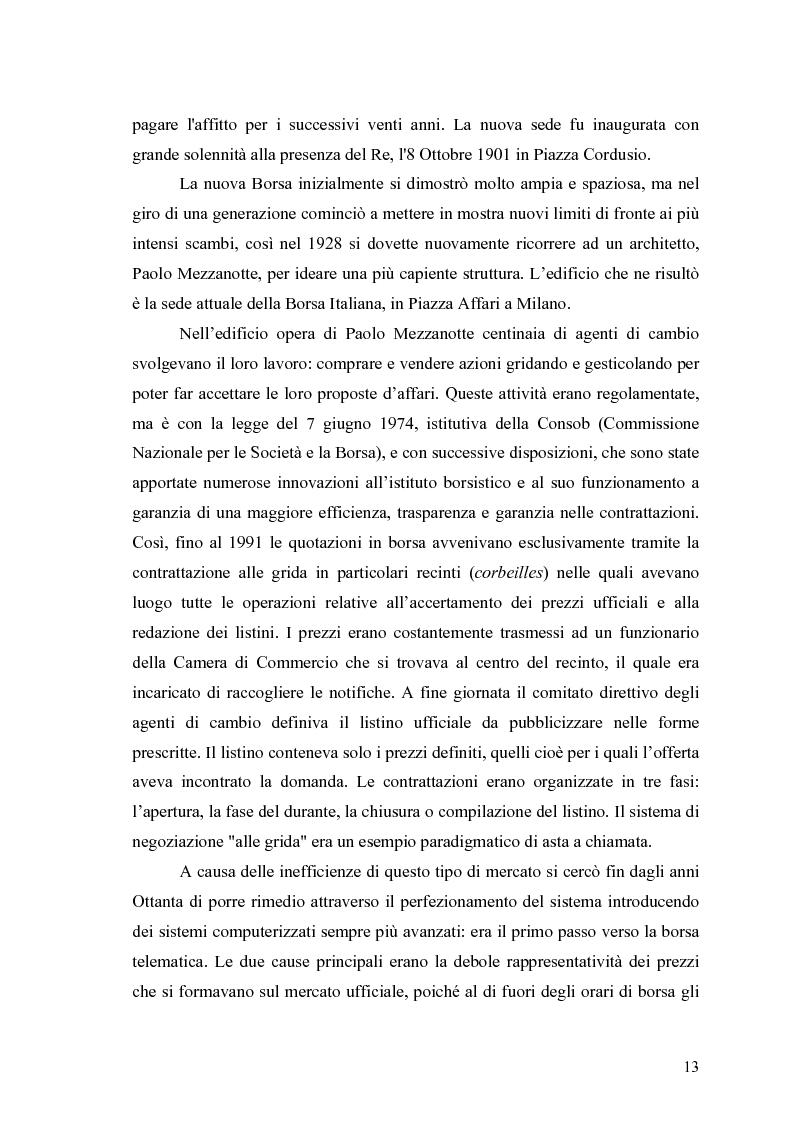 Anteprima della tesi: Aste a chiamata, controllo dei prezzi ed esperimenti con agenti umani ed artificiali in un modello di simulazione di borsa, Pagina 8