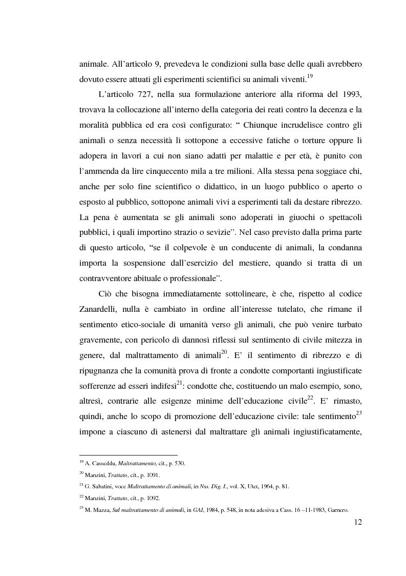 Anteprima della tesi: La tutela penale degli animali, Pagina 11