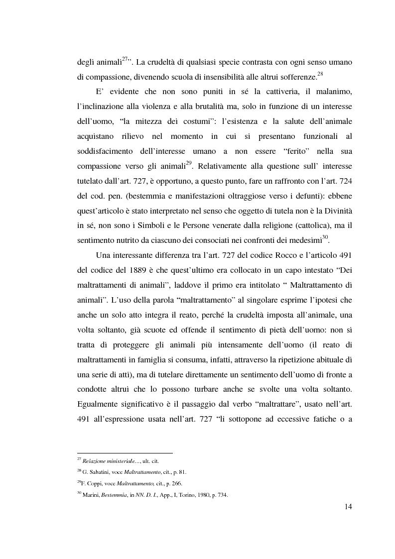 Anteprima della tesi: La tutela penale degli animali, Pagina 13