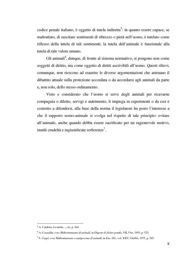 Anteprima della tesi: La tutela penale degli animali, Pagina 7