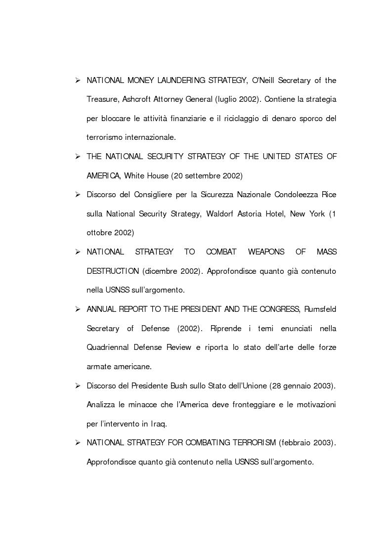 Anteprima della tesi: La dottrina Bush. Un'analisi storica e critica., Pagina 8