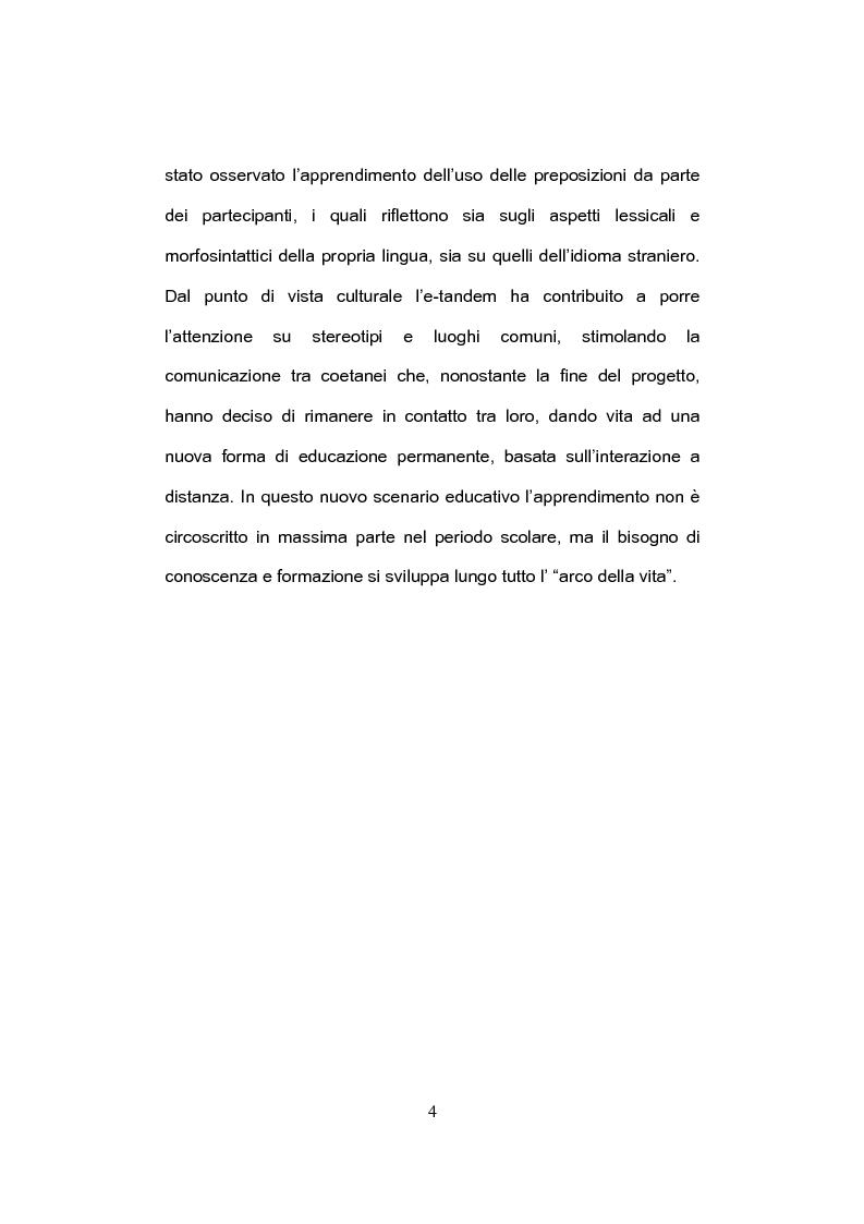 Anteprima della tesi: E-tandem nell'apprendimento dello spagnolo come lingua straniera, Pagina 4