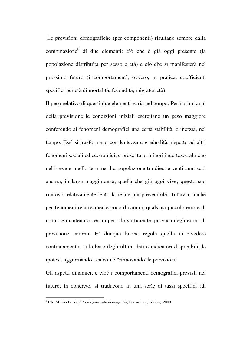 Anteprima della tesi: Le previsioni demografiche per la Campania: metodologie di analisi e risultati, Pagina 11