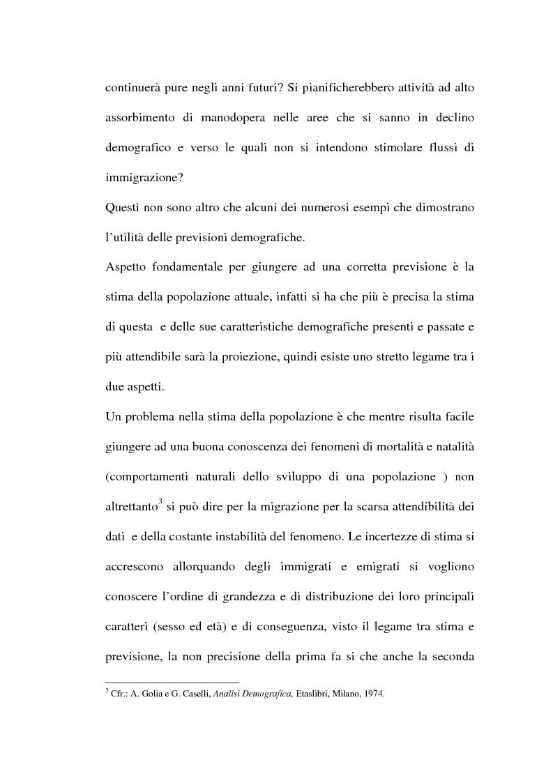 Anteprima della tesi: Le previsioni demografiche per la Campania: metodologie di analisi e risultati, Pagina 6