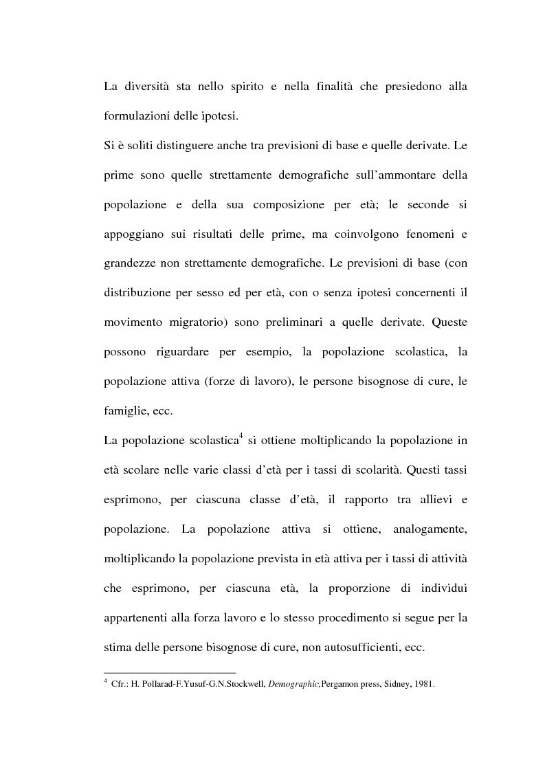 Anteprima della tesi: Le previsioni demografiche per la Campania: metodologie di analisi e risultati, Pagina 8