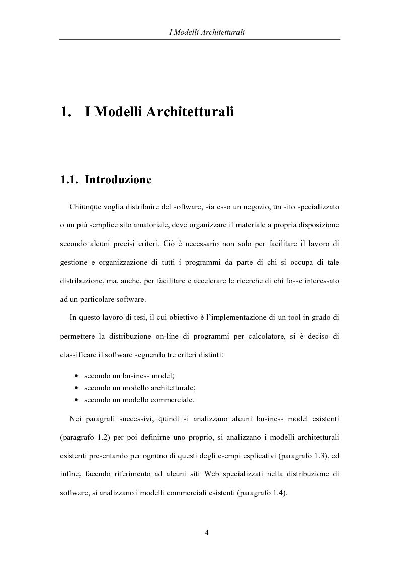 Anteprima della tesi: Distribuzione del software in rete: un tool Peer-to-Peer basato su metafore grafiche, Pagina 4