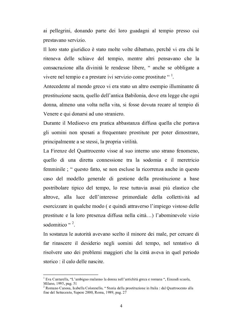 Anteprima della tesi: Ragazze di vita. Per una storia della prostituzione nella Firenze di età moderna, Pagina 4