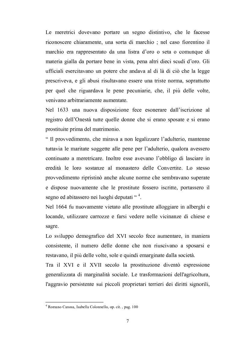 Anteprima della tesi: Ragazze di vita. Per una storia della prostituzione nella Firenze di età moderna, Pagina 7