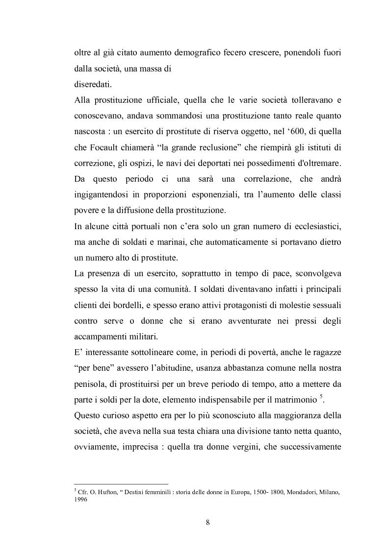 Anteprima della tesi: Ragazze di vita. Per una storia della prostituzione nella Firenze di età moderna, Pagina 8