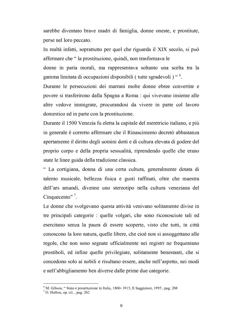 Anteprima della tesi: Ragazze di vita. Per una storia della prostituzione nella Firenze di età moderna, Pagina 9