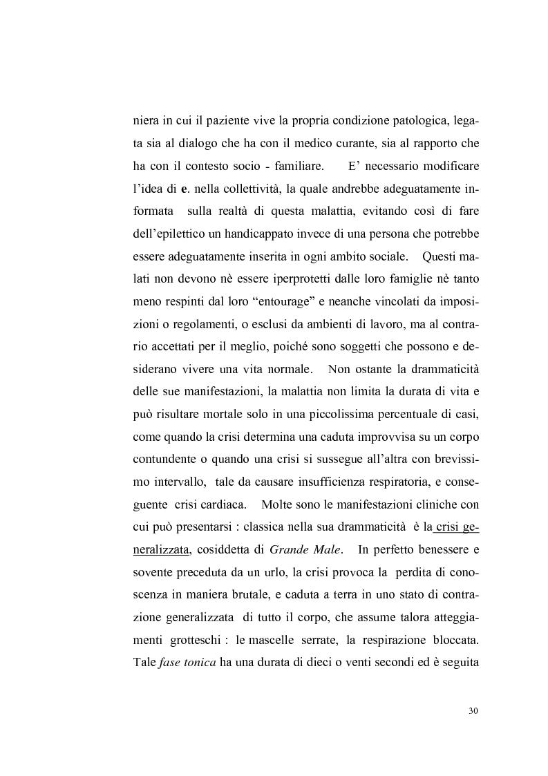 Anteprima della tesi: Il male sacro, discorso intorno all'epilessia, Pagina 6