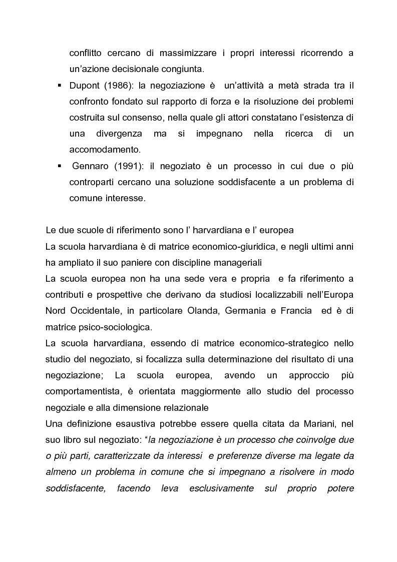 Anteprima della tesi: Il dilemma del negoziatore: strategia integrativa o strategia distributiva? Approccio cooperativo o approccio competitivo, Pagina 2