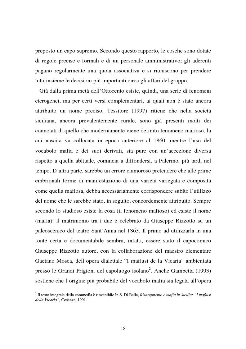 Anteprima della tesi: Le donne e la mafia, Pagina 13