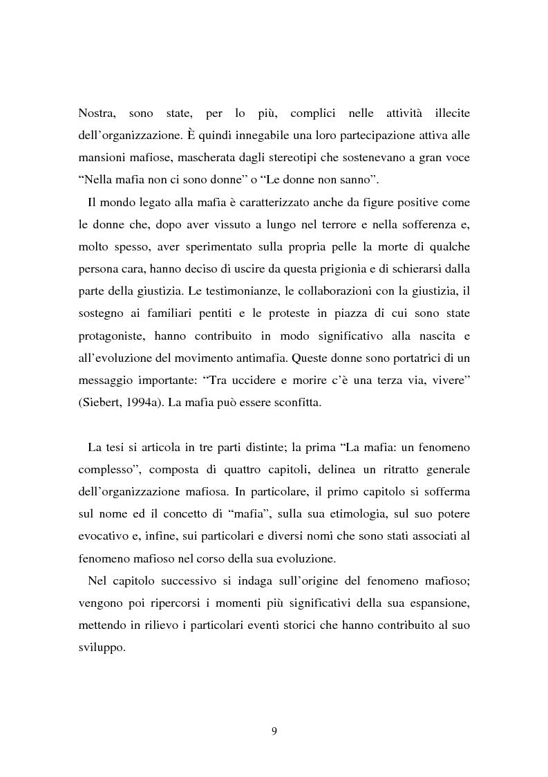 Anteprima della tesi: Le donne e la mafia, Pagina 4
