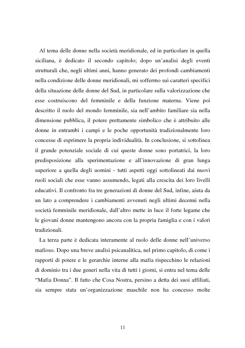 Anteprima della tesi: Le donne e la mafia, Pagina 6
