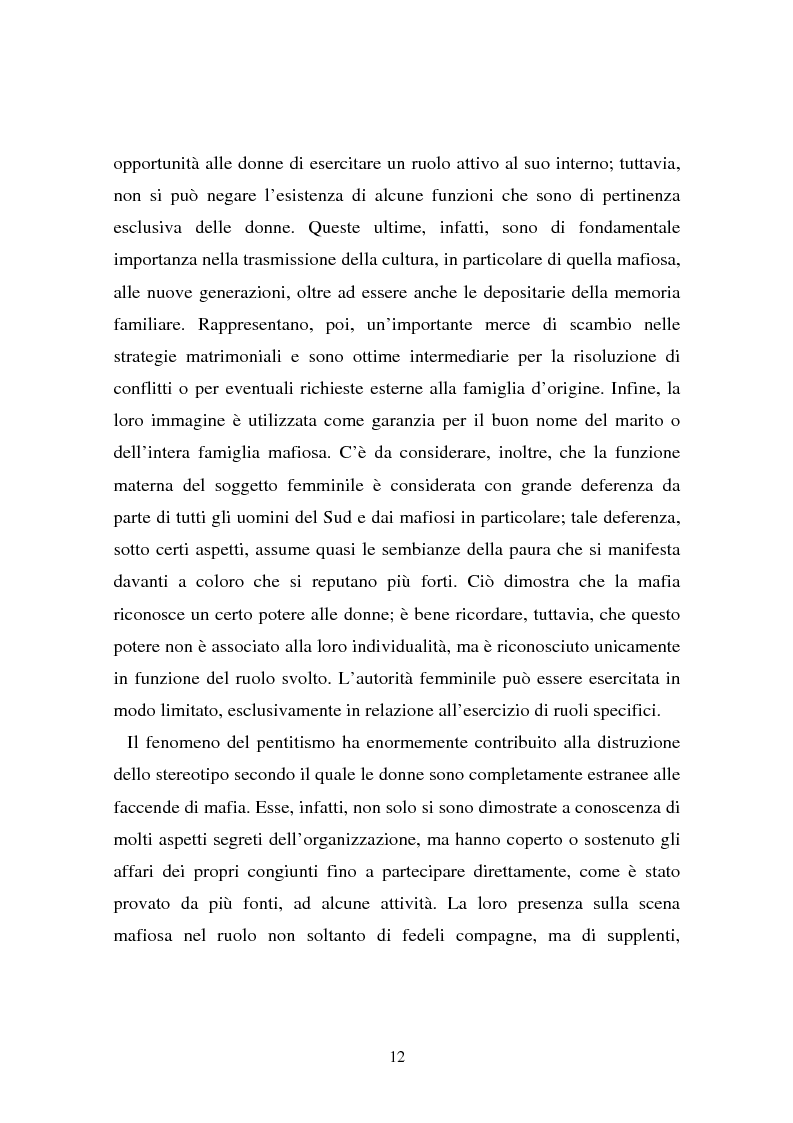 Anteprima della tesi: Le donne e la mafia, Pagina 7
