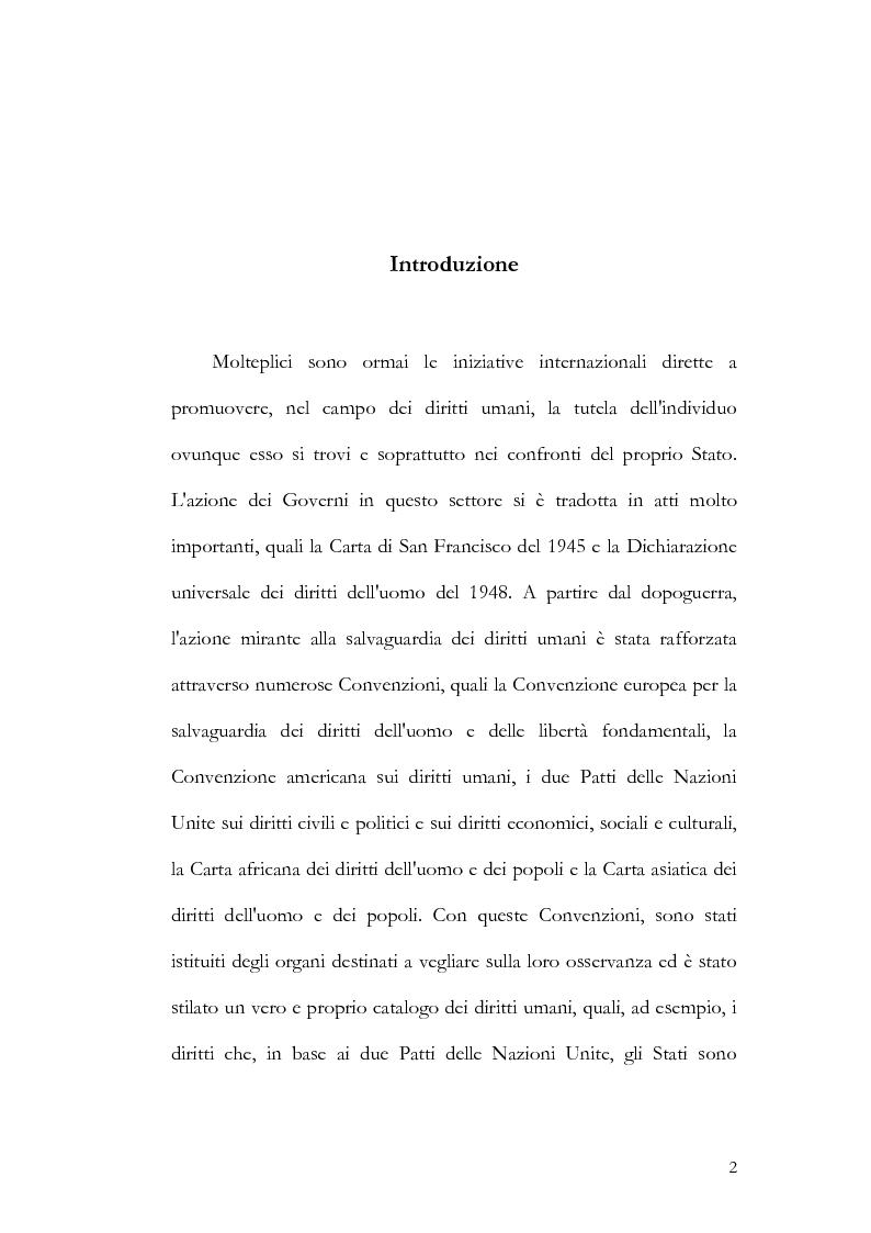 Anteprima della tesi: Riparazioni per le vittime dei conflitti armati internazionali e non, Pagina 1