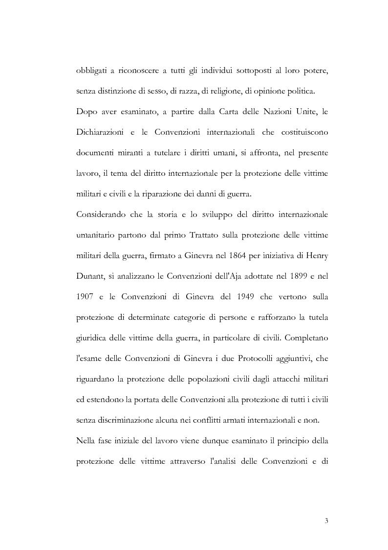 Anteprima della tesi: Riparazioni per le vittime dei conflitti armati internazionali e non, Pagina 2