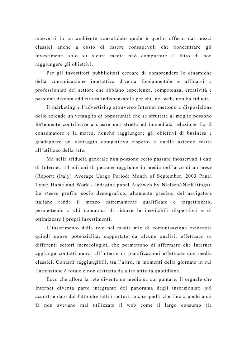 Anteprima della tesi: Pubblicità e new media: tendenze recenti e prospettive, Pagina 12
