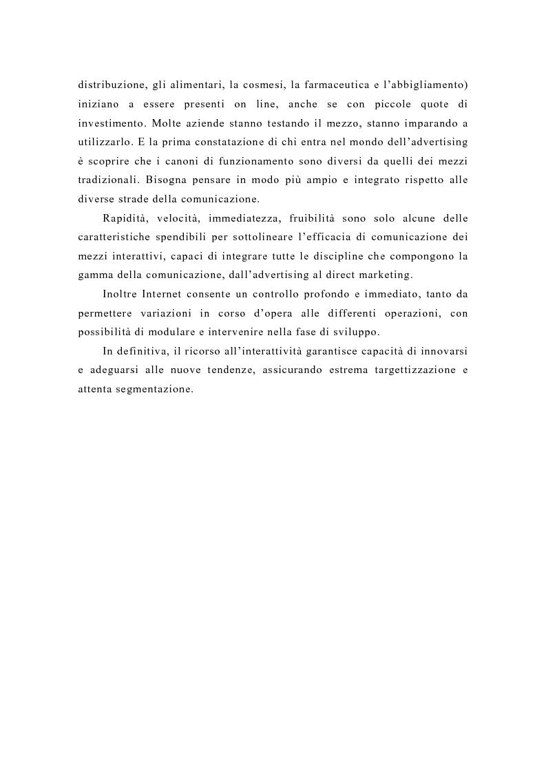 Anteprima della tesi: Pubblicità e new media: tendenze recenti e prospettive, Pagina 13