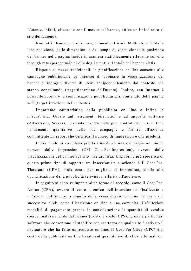 Anteprima della tesi: Pubblicità e new media: tendenze recenti e prospettive, Pagina 3