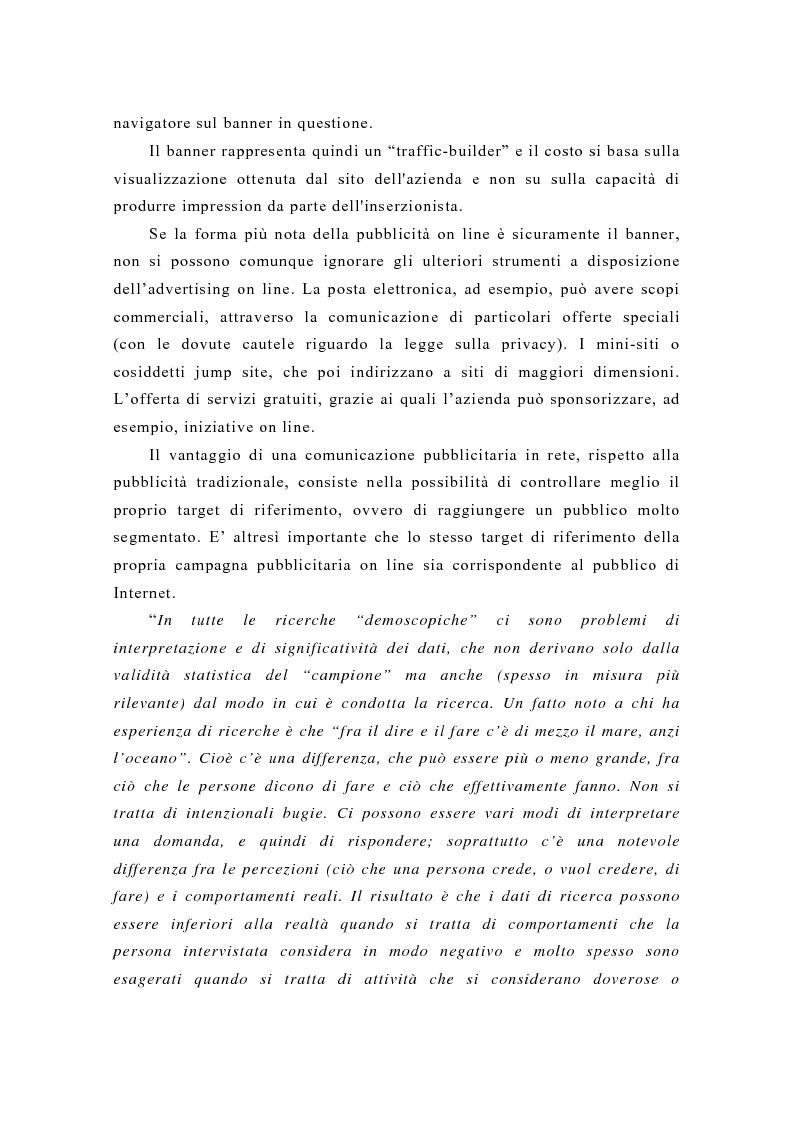 Anteprima della tesi: Pubblicità e new media: tendenze recenti e prospettive, Pagina 4