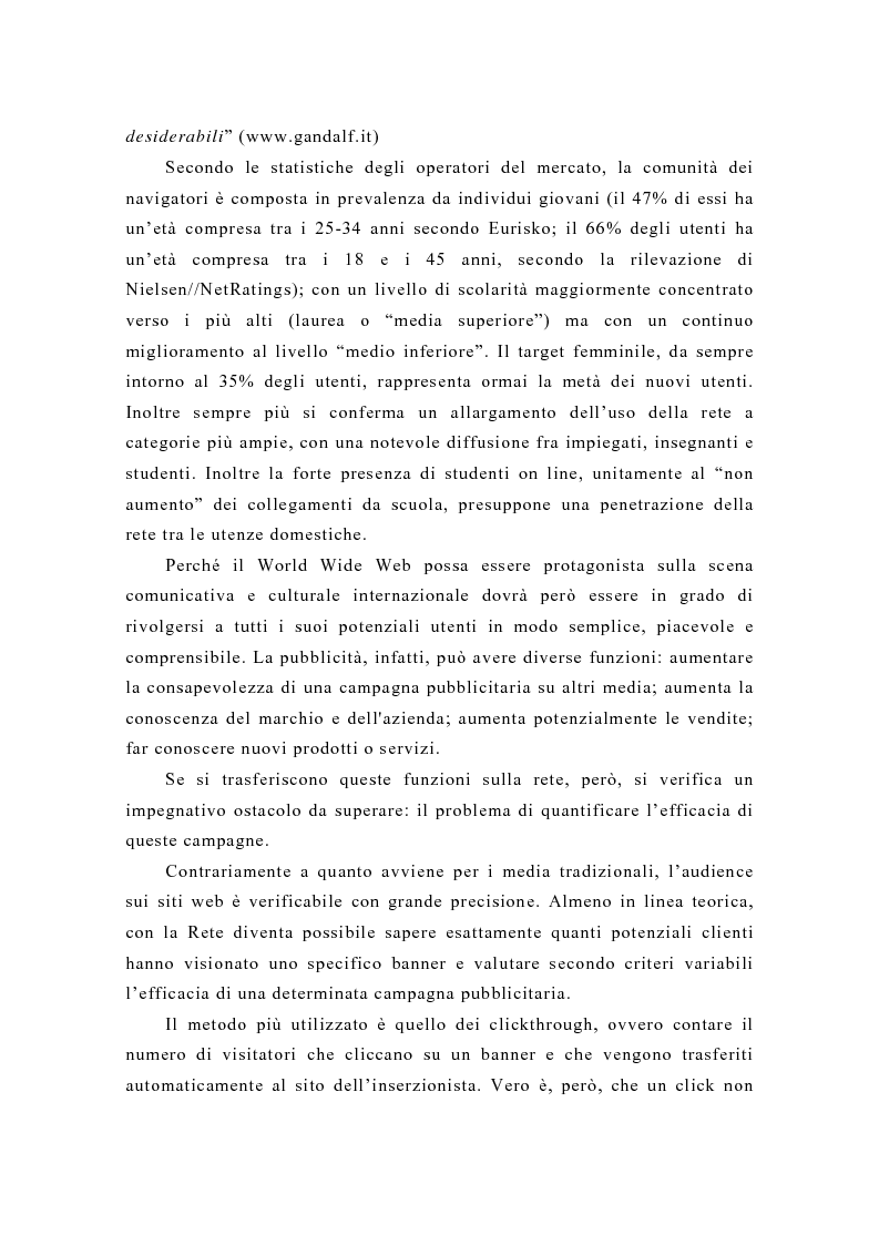Anteprima della tesi: Pubblicità e new media: tendenze recenti e prospettive, Pagina 5