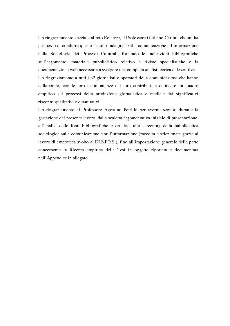 Anteprima della tesi: La comunicazione e l'informazione nei processi culturali, tra teoria e indagine empirica (La costruzione mediata della realtà), Pagina 9