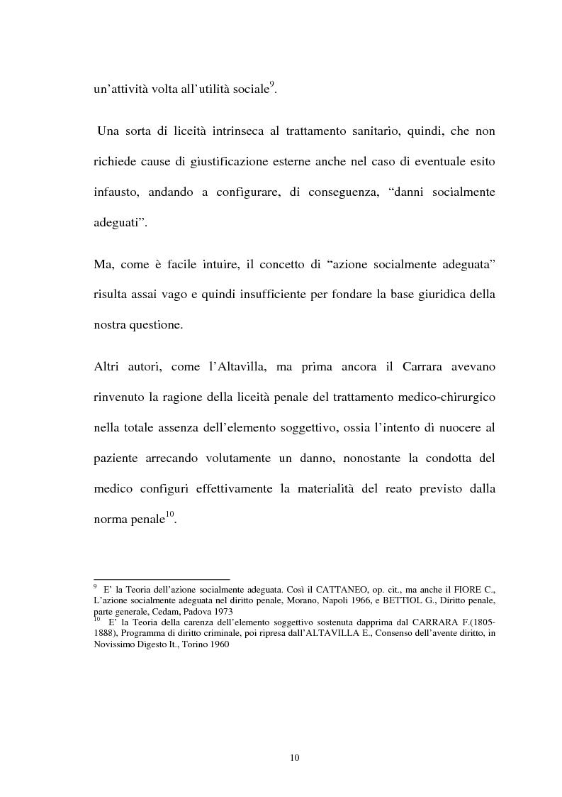 Anteprima della tesi: La responsabilità penale del sanitario, Pagina 10
