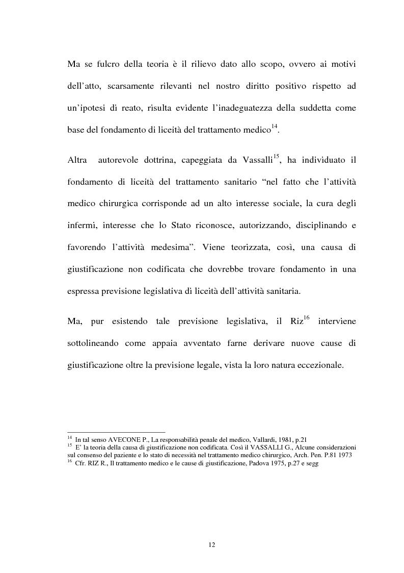 Anteprima della tesi: La responsabilità penale del sanitario, Pagina 12