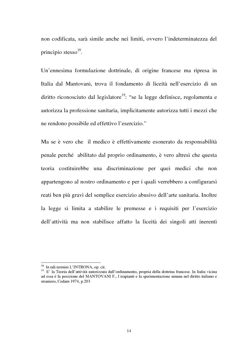 Anteprima della tesi: La responsabilità penale del sanitario, Pagina 14