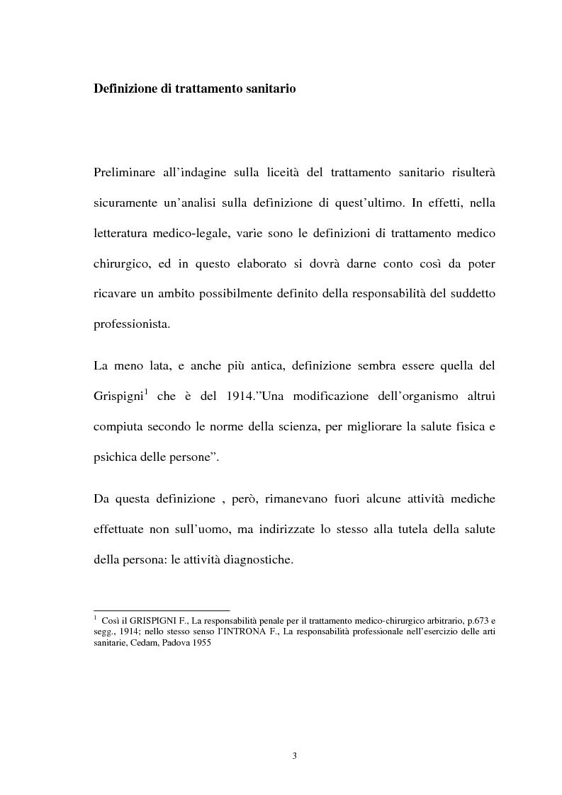 Anteprima della tesi: La responsabilità penale del sanitario, Pagina 3