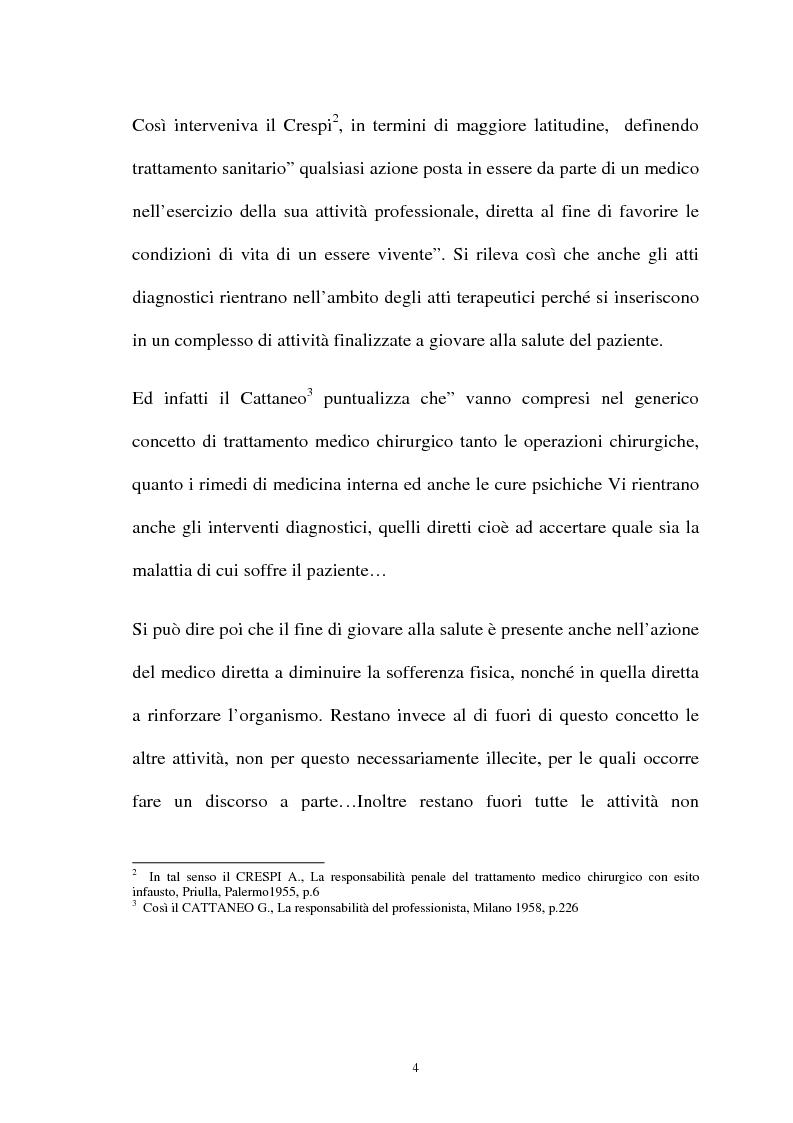 Anteprima della tesi: La responsabilità penale del sanitario, Pagina 4