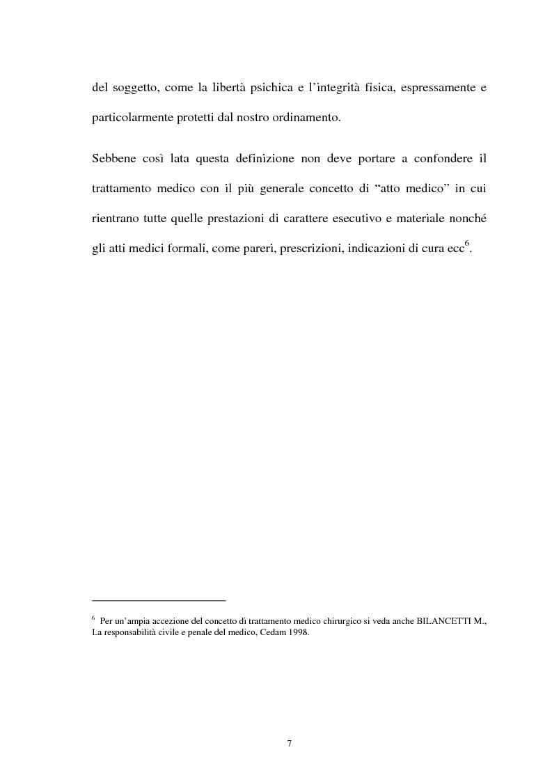 Anteprima della tesi: La responsabilità penale del sanitario, Pagina 7