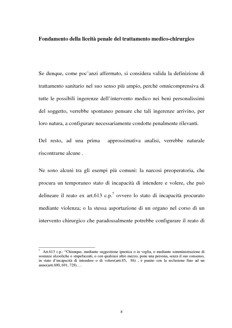Anteprima della tesi: La responsabilità penale del sanitario, Pagina 8