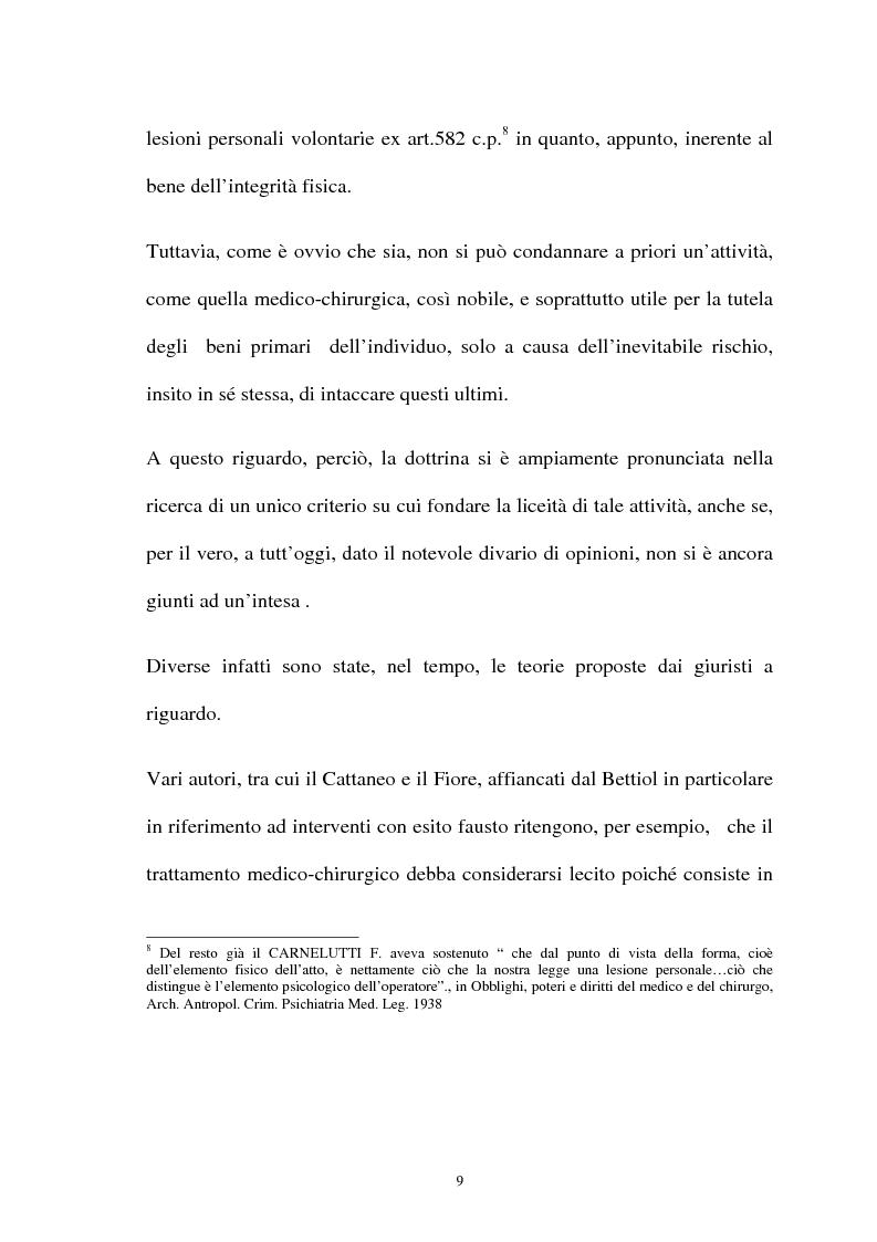 Anteprima della tesi: La responsabilità penale del sanitario, Pagina 9