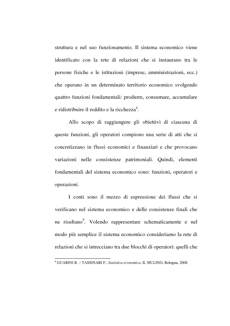 Anteprima della tesi: Il conto economico nazionale e il conto satellite della protezione sociale in Italia, Pagina 4