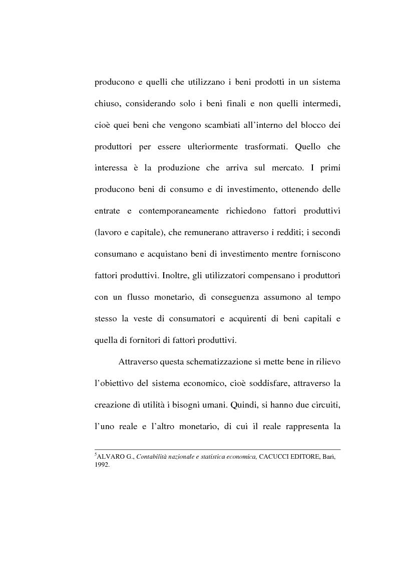 Anteprima della tesi: Il conto economico nazionale e il conto satellite della protezione sociale in Italia, Pagina 5
