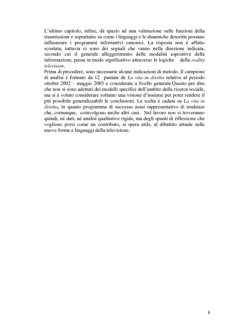 Anteprima della tesi: Vita reale e vita televisiva: ''La vita in diretta'', Pagina 3