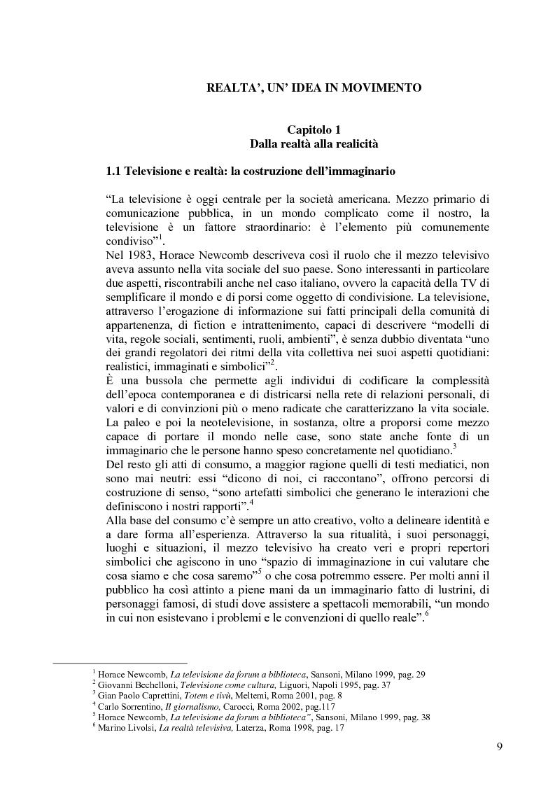 Anteprima della tesi: Vita reale e vita televisiva: ''La vita in diretta'', Pagina 4