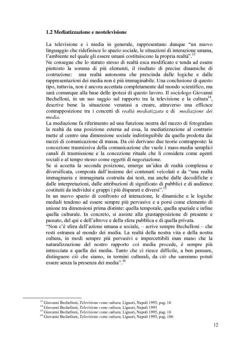 Anteprima della tesi: Vita reale e vita televisiva: ''La vita in diretta'', Pagina 7